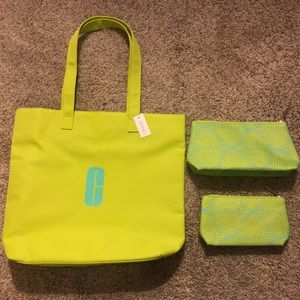 Brand new Clinique Tote Bag with 2 Makeup Bags